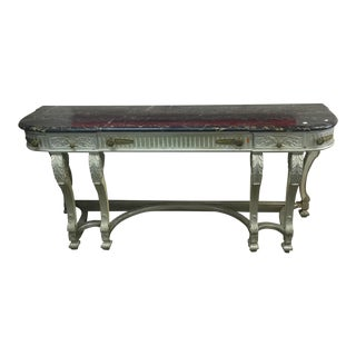 Silver Console Table With Marble Top