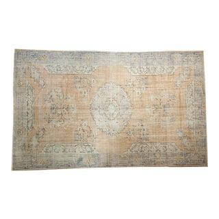 "Vintage Distressed Oushak Carpet - 6'4"" X 10'2"""