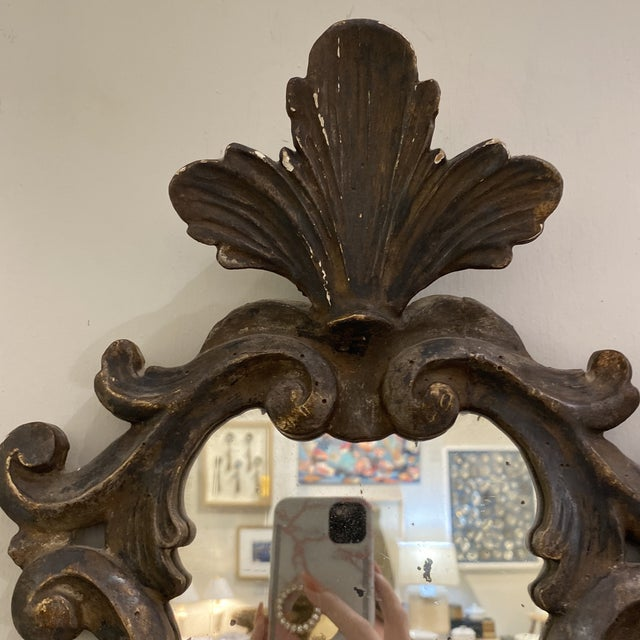 1980s Vintage Wooden Shield Mirrors - a Pair For Sale - Image 5 of 11