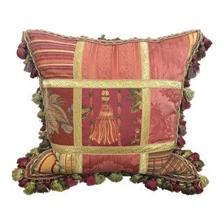 Italian Passmaneria Toscana Decorative Pillow For Sale