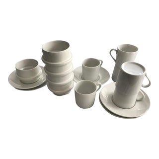 Mid-Century Modern Arabia Finland Stacking Demitasse Cups - Set of 16 For Sale