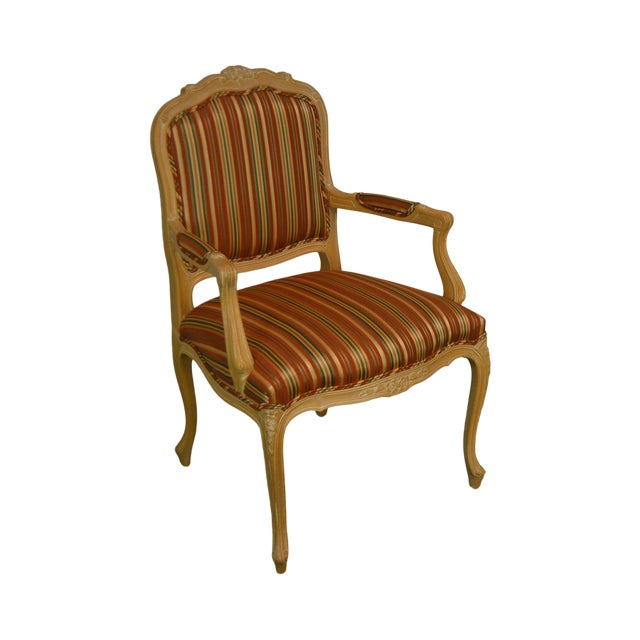 Ethan Allen Home Collection Louis XV Style Armchair Made in Italy For Sale