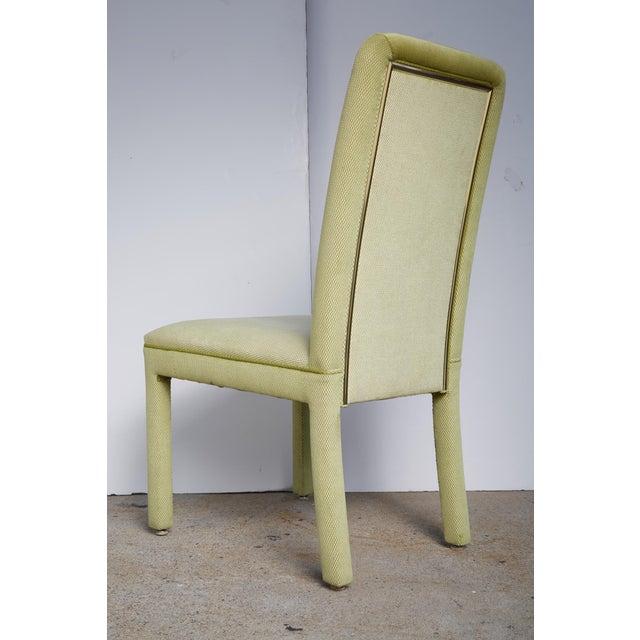 Velvet & Brass Detail Dining Chairs - Set of 8 - Image 4 of 9