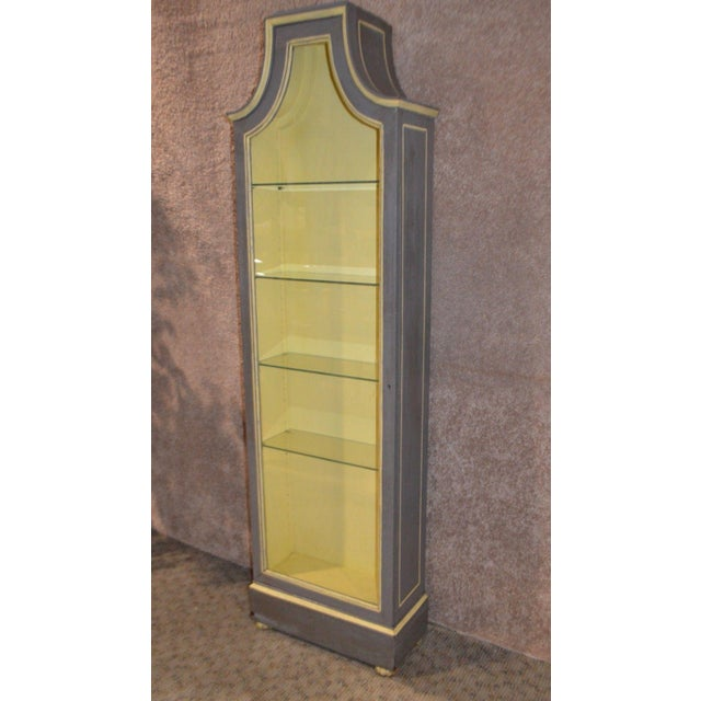 Vintage Distressed Painted Venetian Style Curio Cabinet - Image 2 of 11