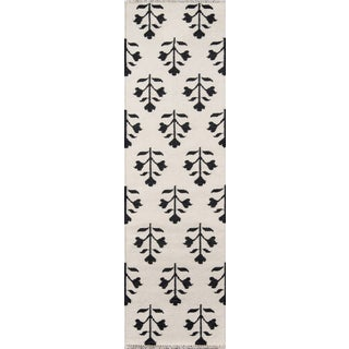 "Erin Gates Thompson Grove Ivory Hand Woven Wool Runner 2'3"" X 8' For Sale"