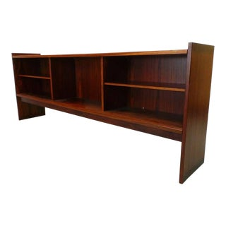 1960s Danish Modern Rosewood Hutch Bookcase Sofa Table For Sale