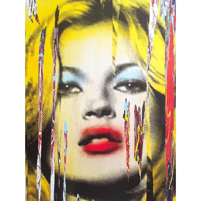 """2000 - 2009 Mr. Brainwash """" Kate Moss """" Rare Authentic Lithograph Print Pop Art Poster For Sale - Image 5 of 13"""
