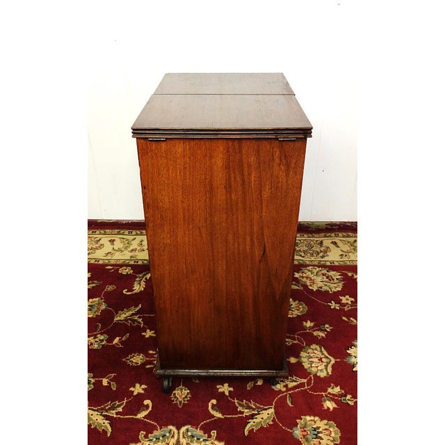 Glass Art Deco Prohibition Era Radio Cabinet Concealed Bar Cart For Sale - Image 7 of 8