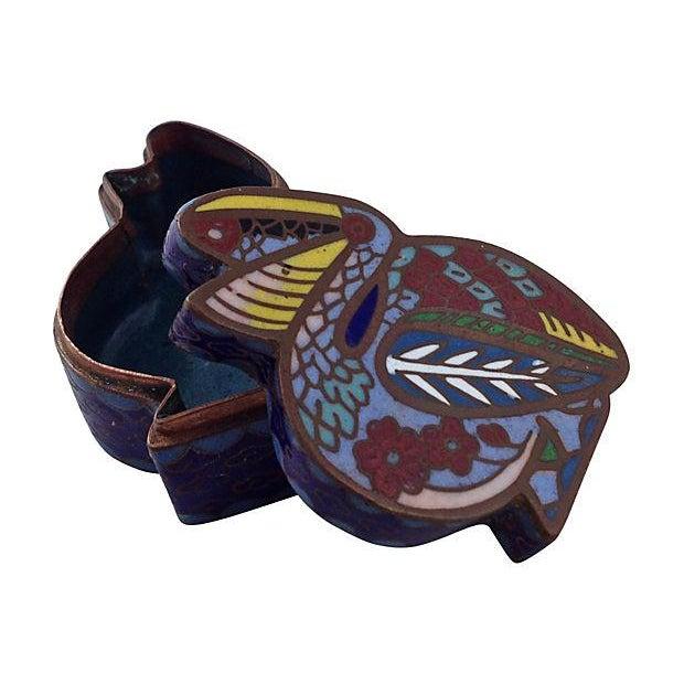 Antique Cloisonné Pelican Box - Image 6 of 7