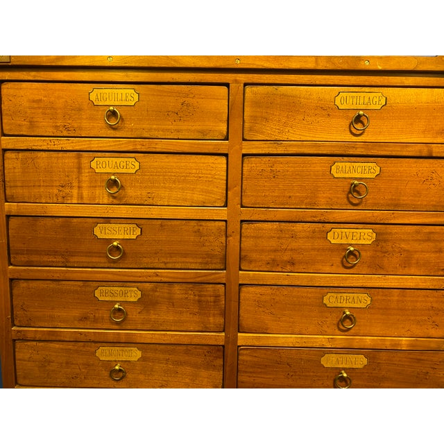 Wood French Oak Apothecary Cabinet For Sale - Image 7 of 13
