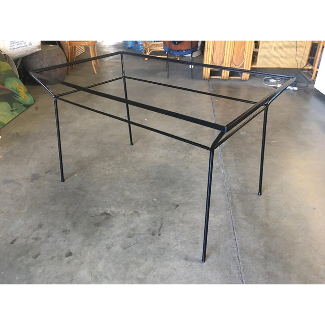 Art Deco Modernist Iron and Glass Patio/Outdoor Table For Sale - Image 4 of 6