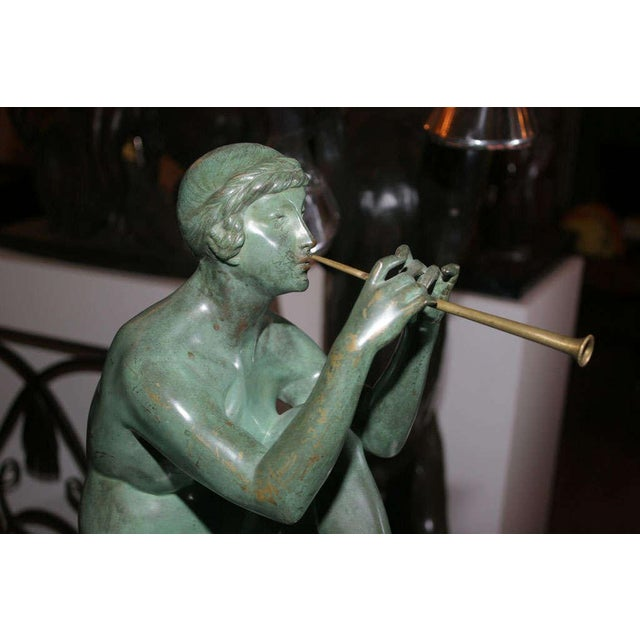 Art Deco Bronze Sculpture by Maurice Guiraud Riviere For Sale In New York - Image 6 of 10