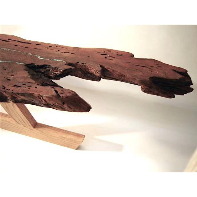 Organic Modern Live Edge Mesquite Slab Coffee Table For Sale - Image 6 of 7