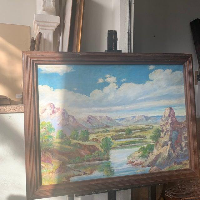 Modern 1940s Southwestern Australian Landscape Oil Painting, Framed For Sale - Image 3 of 5