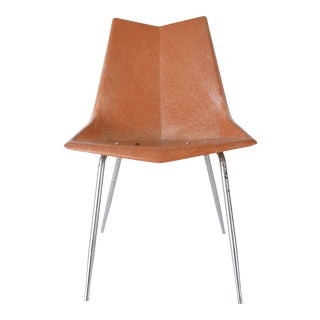 1950s Paul McCobb Fiberglass Origami Chair For Sale