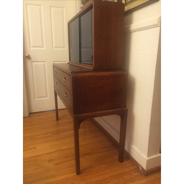 Art Moderne Two-Piece Breakfront Hutch - Image 8 of 11