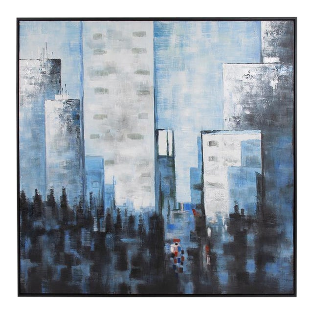Kenneth Ludwig Chicago View From the Window Painting For Sale