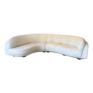 Modern Arabesque Curved White Sectional For Sale