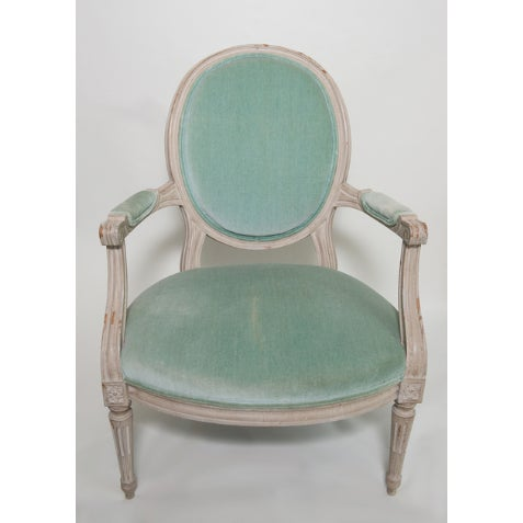 French Mid 20th Century French Provincial Armchair For Sale - Image 3 of 6