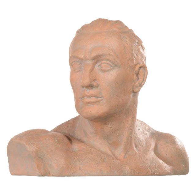 Terracotta Bust of a Man For Sale