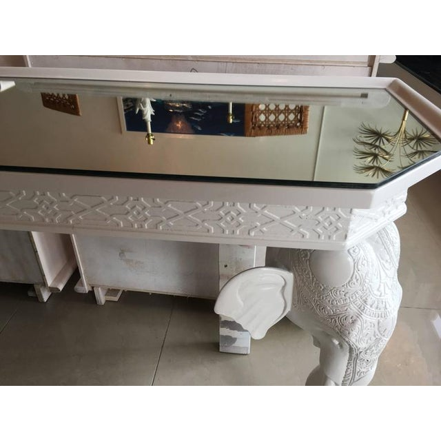 Gampel-Stoll White Elephant Console Table - Image 6 of 12