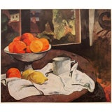 """Image of 1940s Paul Gauguin Original """"Still Life"""" Lithograph From Geneva For Sale"""