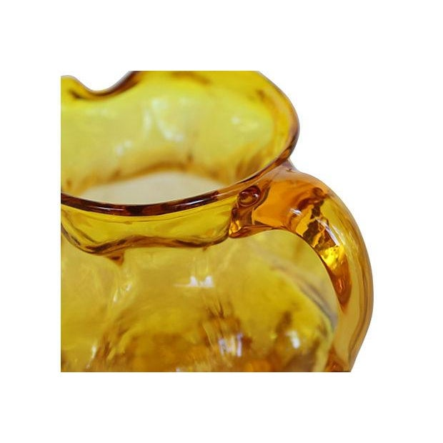 Blown Amber Glass Pitcher - Image 4 of 4