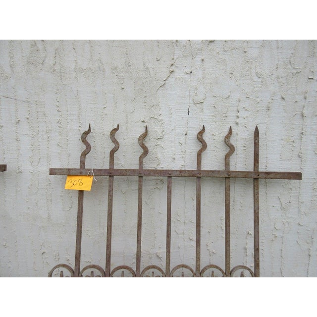 Traditional Antique Victorian Iron Gate Window Garden Fence For Sale - Image 3 of 7