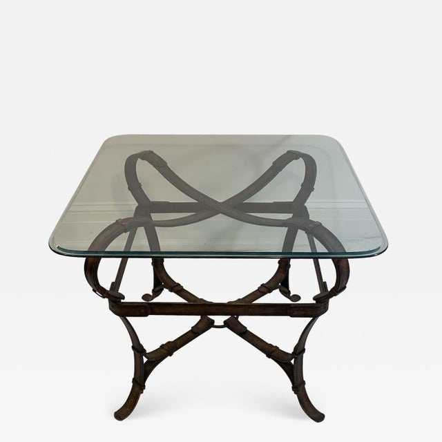 Hermes Equestrian Iron Strap Side Table For Sale - Image 13 of 13