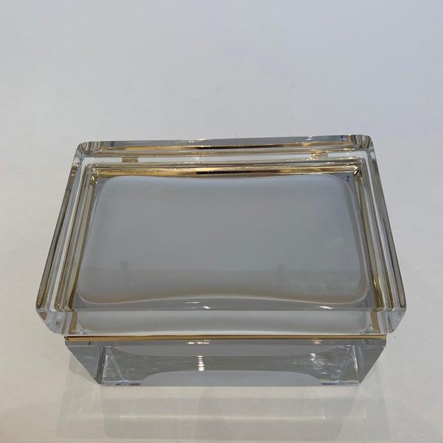 White 21st Century Murano White Crystal Jewel Box by Mandruzzato For Sale - Image 8 of 10