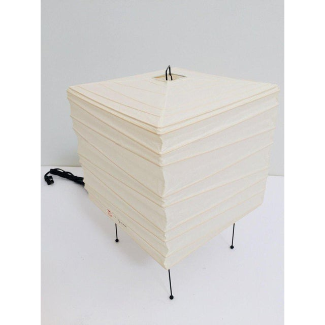 Sculptural Table Lamp by Isamu Noguchi Akari Series 3 X For Sale - Image 10 of 13