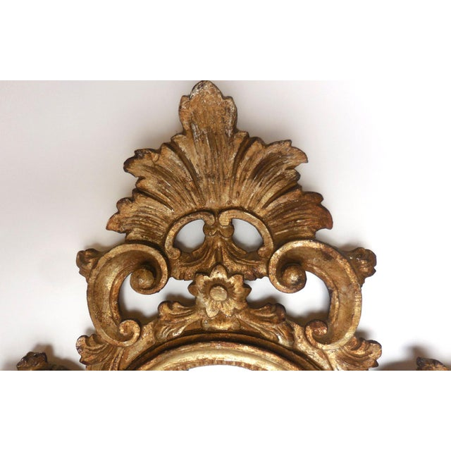 Giltwood Pair of Italian Giltwood Mirrors For Sale - Image 7 of 13