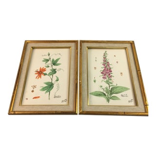 Vintage Framed Hand Painted Tiles For Sale