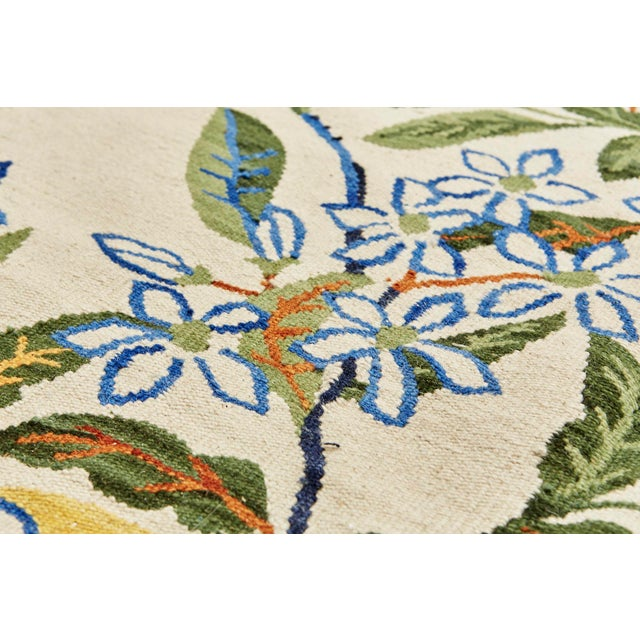 Early 21st Century Cottage Schumacher Patterson Flynn Martin Citrus Garden Hand-Woven Wool Floral Rug - 9' X 12' For Sale - Image 5 of 10