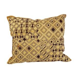 Vintage Embroidered Kuba Cloth Pillow For Sale