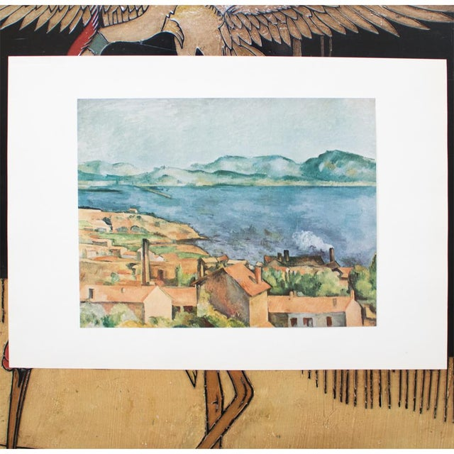 A very calm original tipped-in paper lithograph after The Bay From L'Estaque painting by Paul Cezanne from his portfolio...