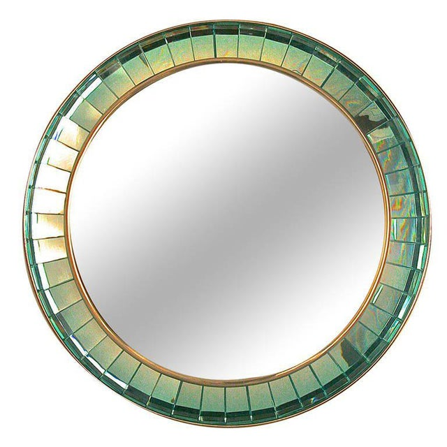 Hand-cut Crystal Glass Mirror by Ghiro For Sale - Image 5 of 5