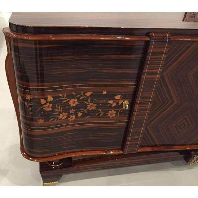 """Art Deco Circa 1920s French Art Deco Macassar """"Zigzag"""" Buffet For Sale - Image 3 of 6"""