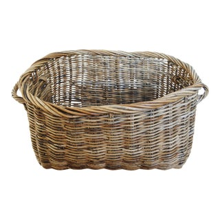 Large Rattan Floor Basket