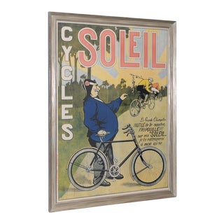 Cycles Soleil Antique French Lithograph C.1900