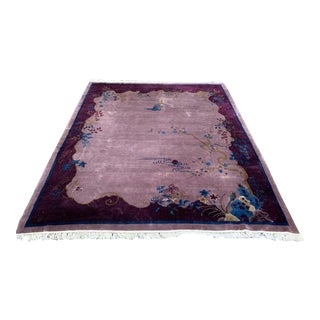 """1920s Chinese Art Deco Rug-8'1'x9'11"""" For Sale"""