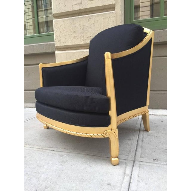 Hollywood Regency Italian Giltwood Sculptural Lounge Chair For Sale - Image 3 of 9