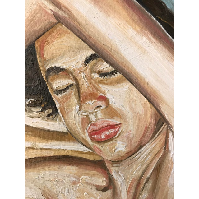 Fernando Franca Life Study Acrylic Painting on Canvas of Sleeping Boy For Sale In Palm Springs - Image 6 of 11