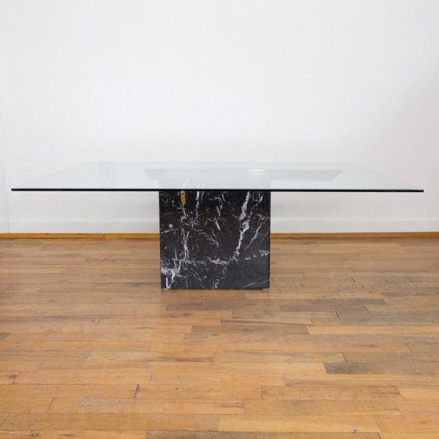 Artedi Nero Italian Black Marble Coffee Table Side Table Chairish - Marble cube coffee table