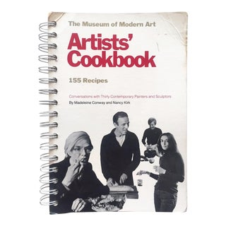 "Museum of Modern Art "" Artists' Cookbook "" Rare Vintage 1977 1st Edition Iconic Collector's Book For Sale"