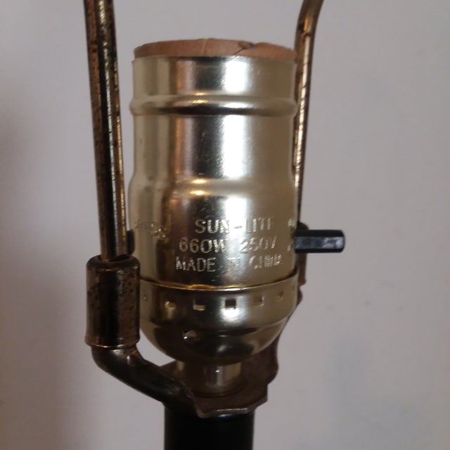 Mid Century Modern Teak Lamp For Sale - Image 4 of 5