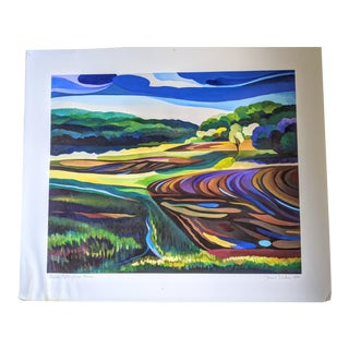 Abstract Expressionist Landscape Print For Sale
