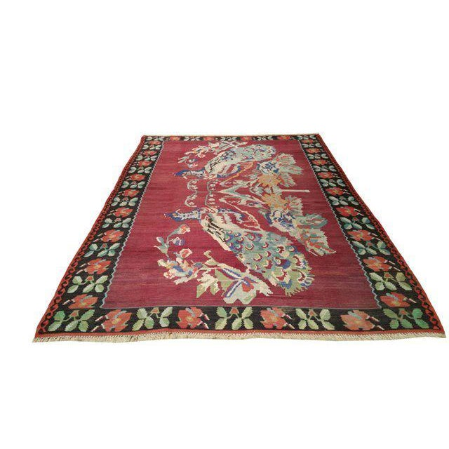 Vintage Turkish Kilim Hand Made Rug