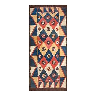 "Antique Tajik Kilim Rug, 6'8""x 15'8"" For Sale"
