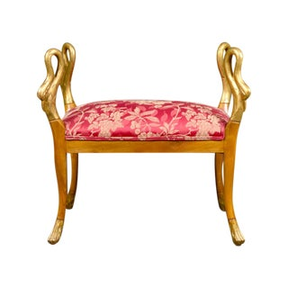 Empire Style Parcel Gilt Swan Stool